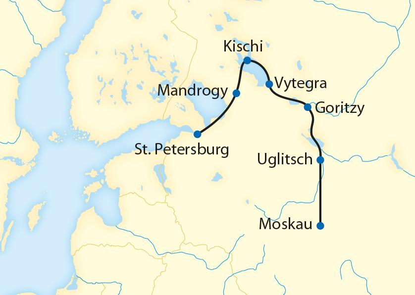 Flusskreuzfahrt mit der MS Repin von St. Petersburg ins Herz Russlands (2020)
