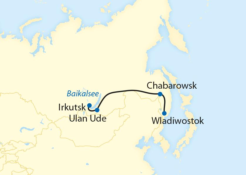 Bahnreise von Irkutsk nach Wladiwostok (2020)