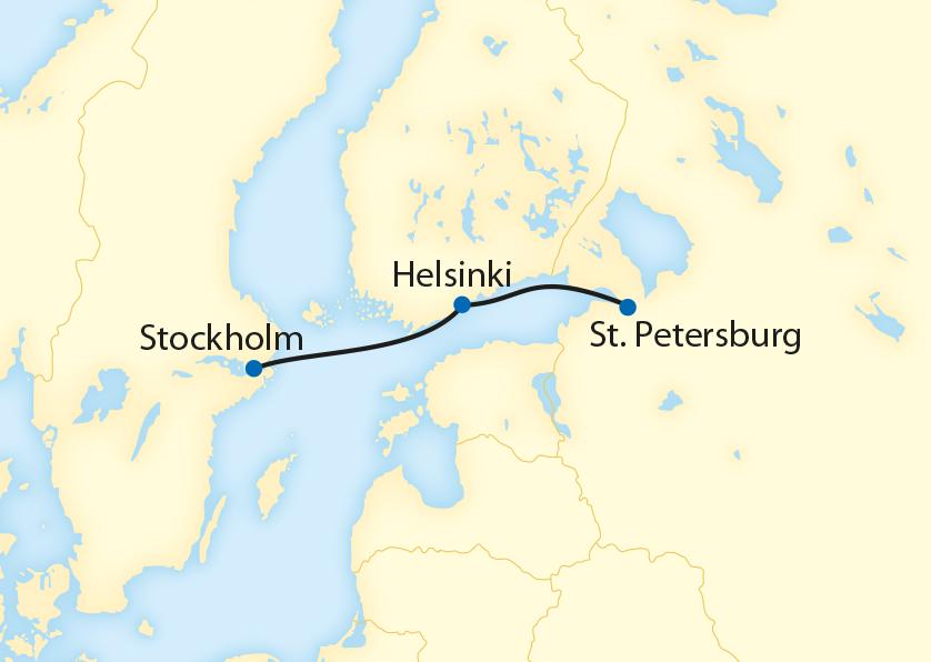 Stockholm – Helsinki – St. Petersburg  (2020)