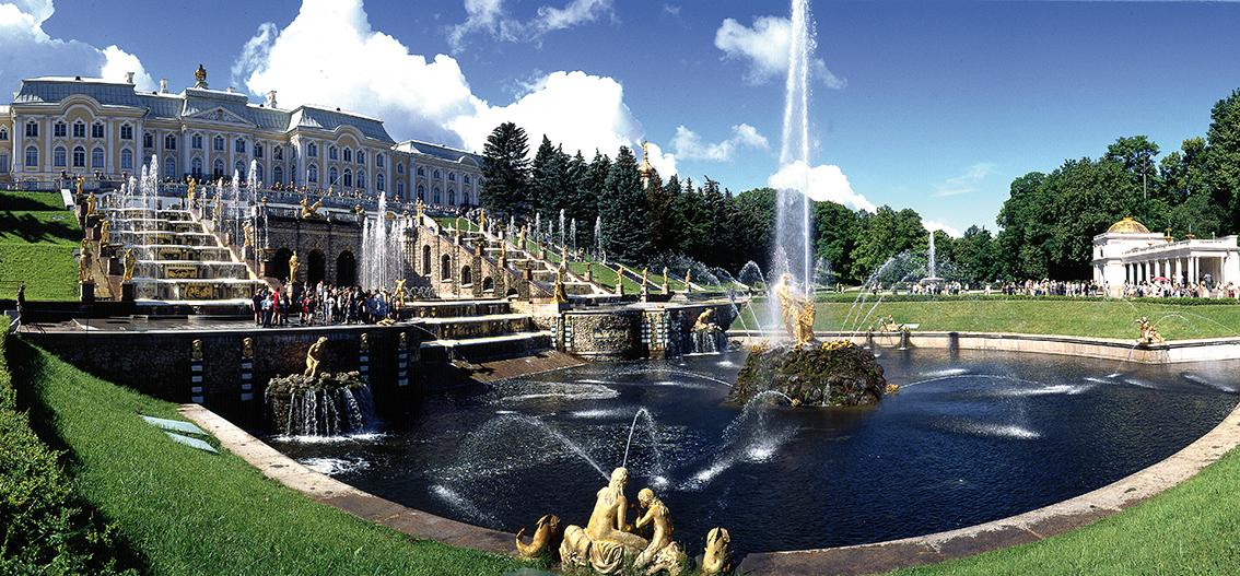 Reise in Russland, Peterhof in St. Petersburg