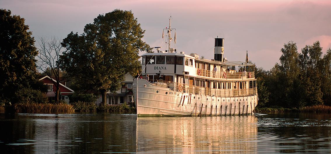 Reise in Schweden, MS Diana auf dem Götakanal