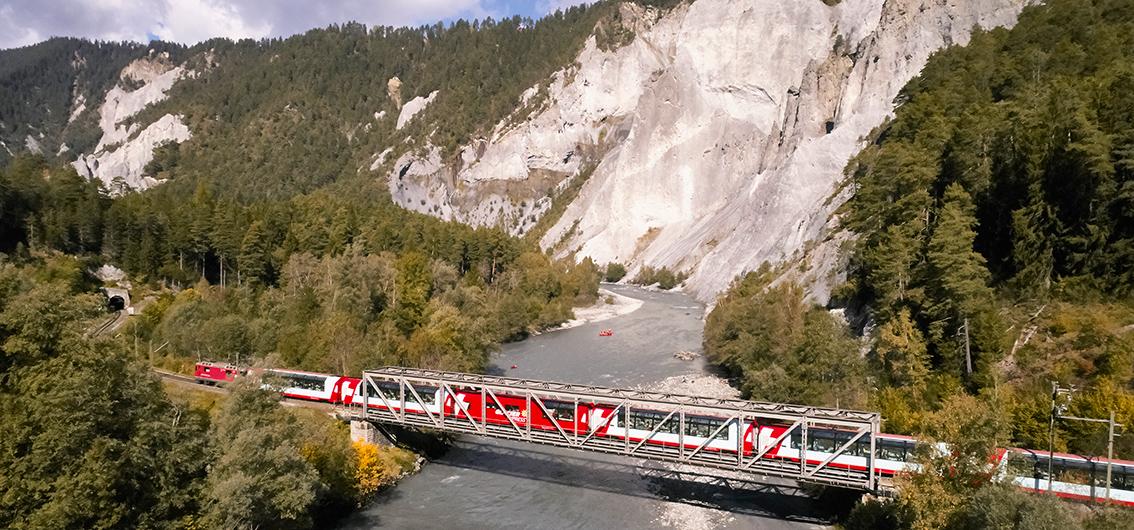 Reise in Schweiz, Mit dem Bähnli durch die Schweizer Alpen (2020/2021)