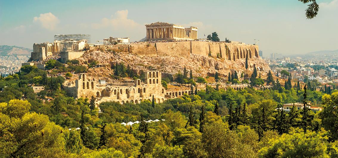 Reise in Griechenland, Die mächtige Akropolis in Athen