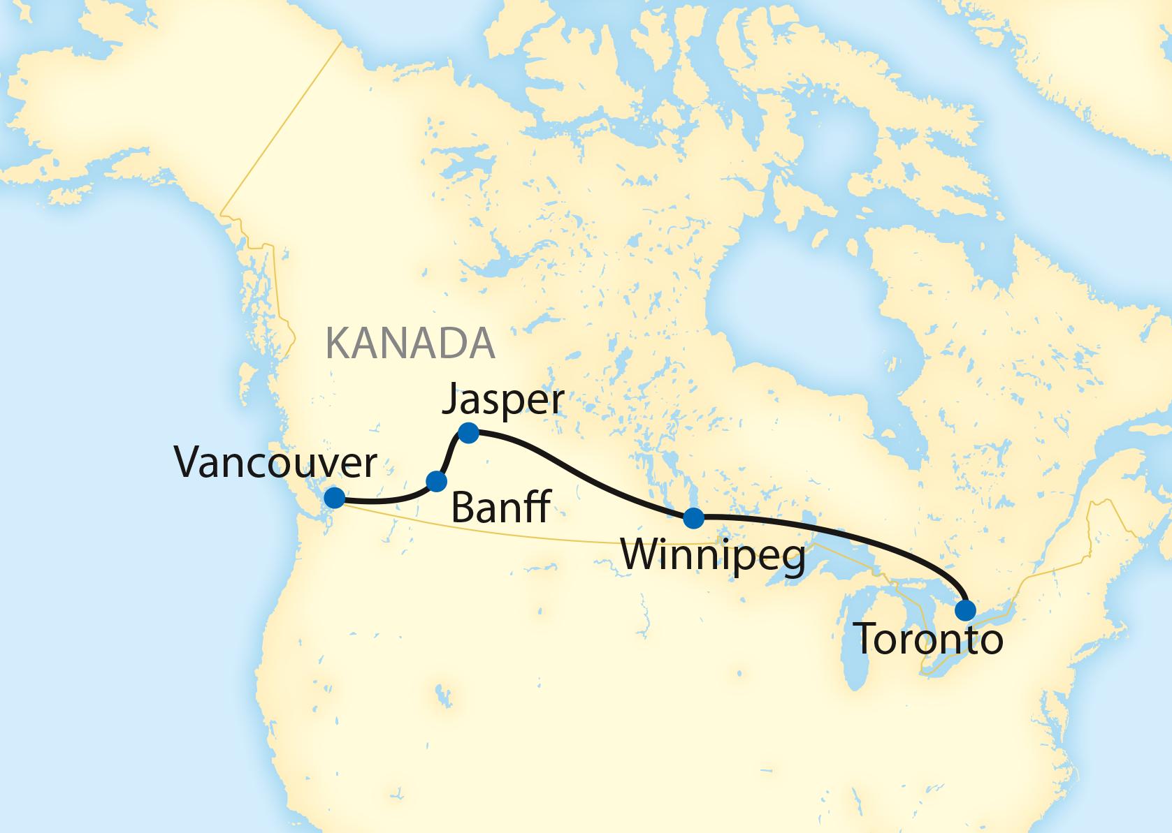 Kanada per Zug: Die klassische Variante (2020)