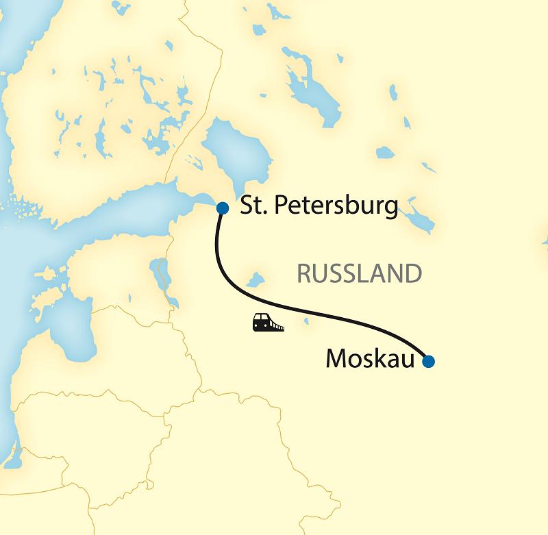 Städtereise nach Moskau und St. Petersburg (2021/2022)