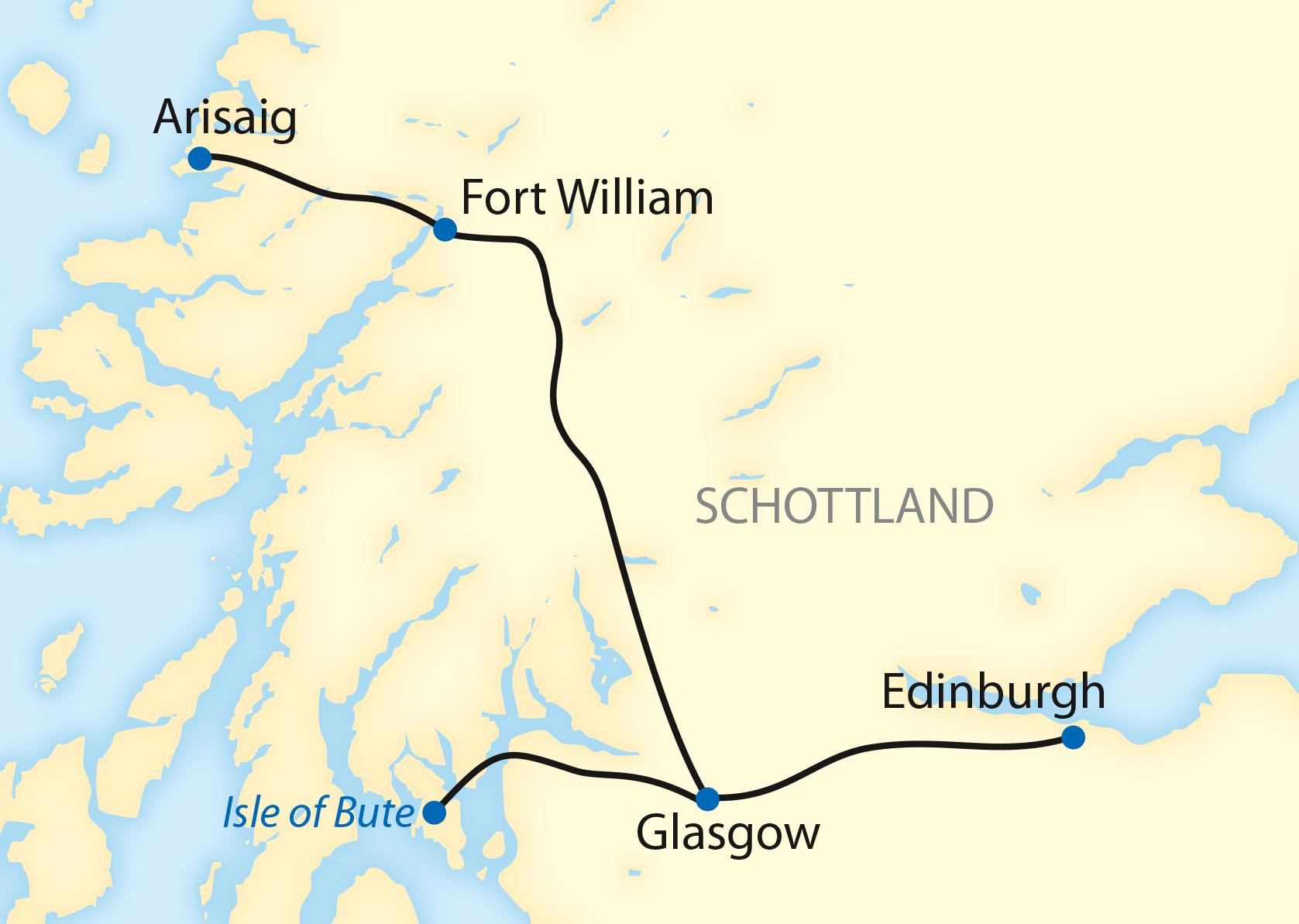 Im Royal Scotsman durch Schottland (2019/2020)