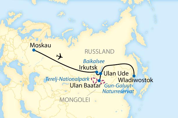 Zugreise durch Sibirien und die Mongolei (2021/2022)