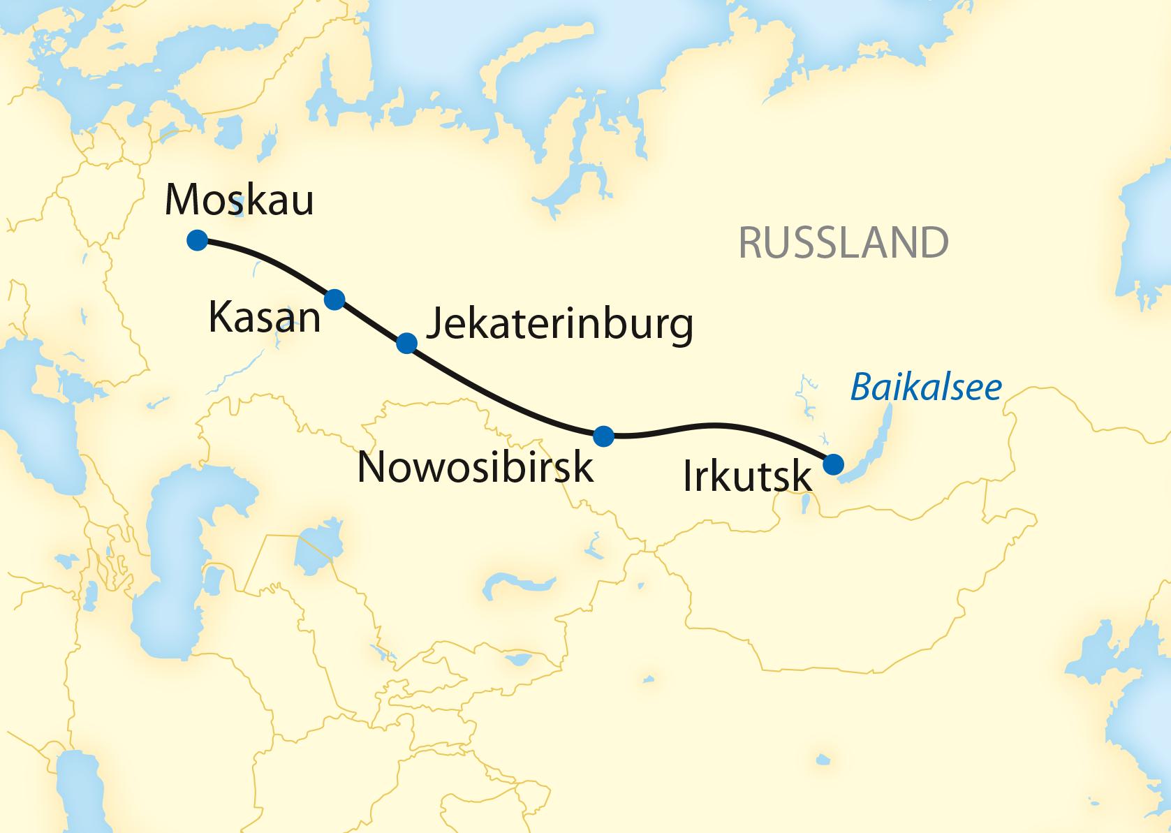 Zarengold-Sonderzugreise: Von Moskau bis zum Baikalsee (2020)