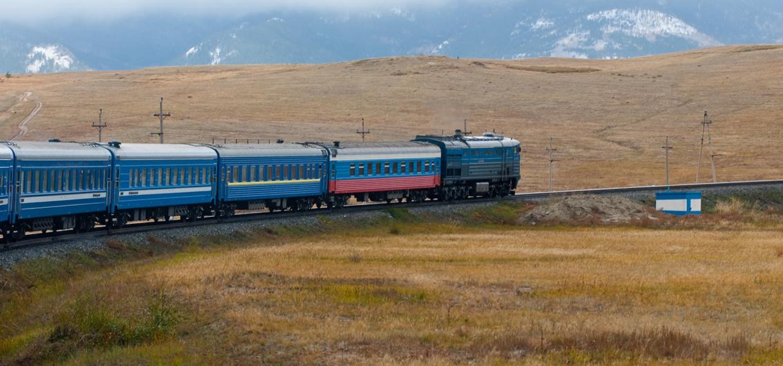 Reise in Mongolei, Zarengold-Sonderzug auf dem Weg nach Ulan Ude
