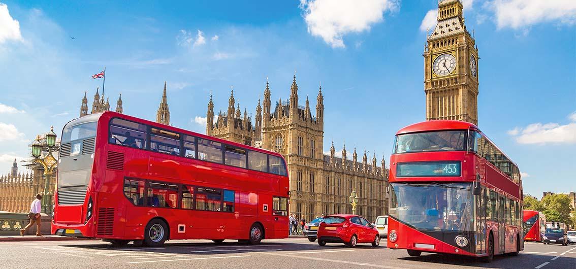 Reise in Frankreich, London