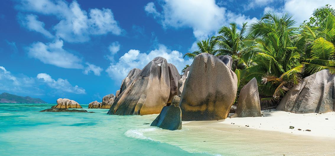 Reise in Seychellen, Traumstrand Anse Source d'Argent