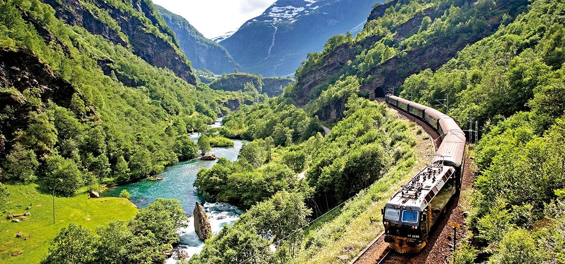 Reise in Norwegen, In Fjordnorwegen