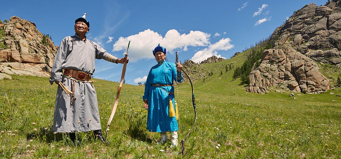 Reise in Mongolei, Traditionelle Bogenschützen, Mongolei