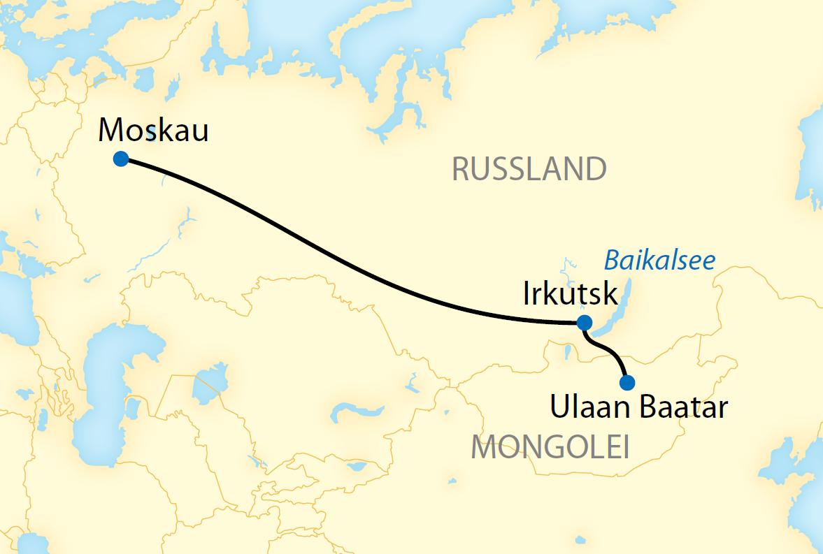 Kurzvariante: Auf der Transsib von Moskau nach Ulaan Baatar (2020)