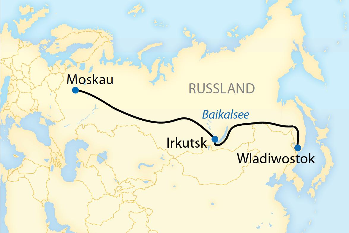Auf der Transsib von Moskau nach Wladiwostok (2018/2019)