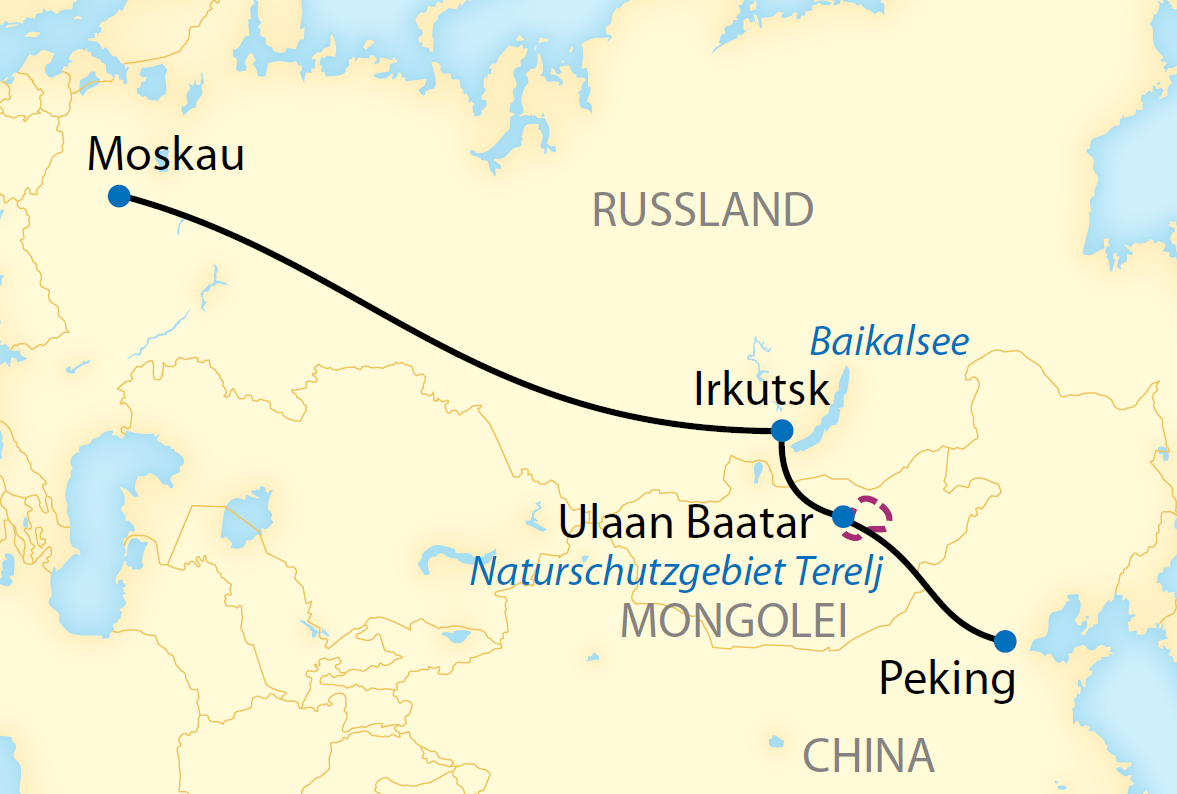 Auf der Transsib von Peking nach Moskau (2018/2019)