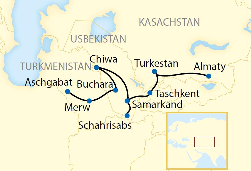 Die sagenhafte Seidenstraße von Ost nach West (2020/2021)