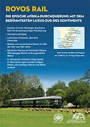 Schaufensterposter A4 - Rovos Rail - Sondertermin