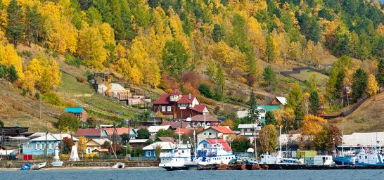 Port Baikal am Baikalsee