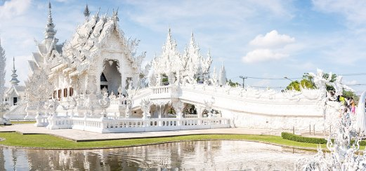 Wat Rong Khun, in der Provinz Chiang Rai in Nord-Thailand