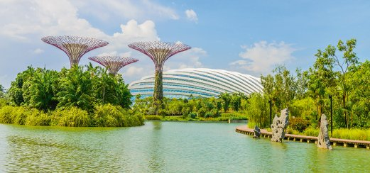 Supertrees im futuristischem Park Garden by the Bay in Singapur