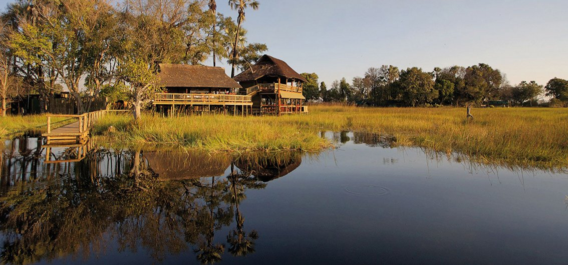 Safari-Lodges im Okavango-Delta