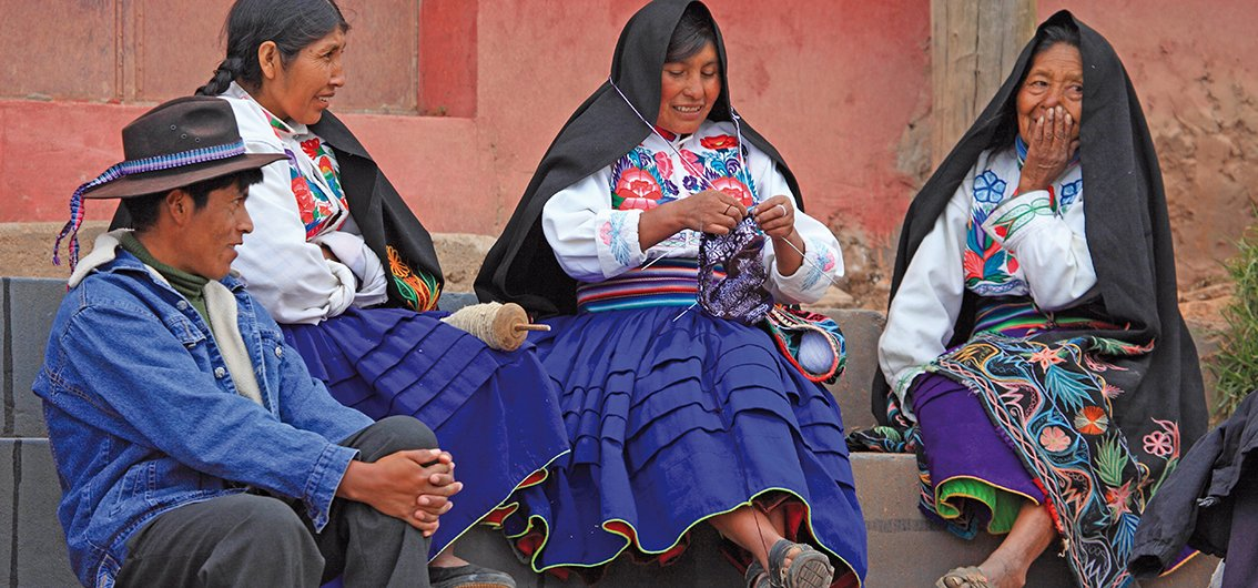 Traditionelle Kleidung in Peru