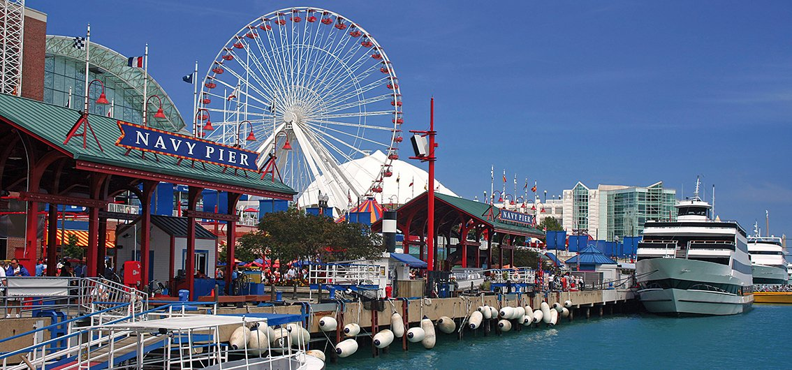 Navy Pier in Chicago, USA.