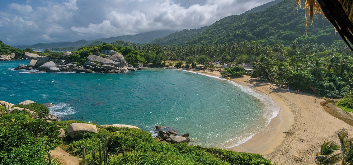 Strand des Tayrona-Nationalparks in Kolumbien