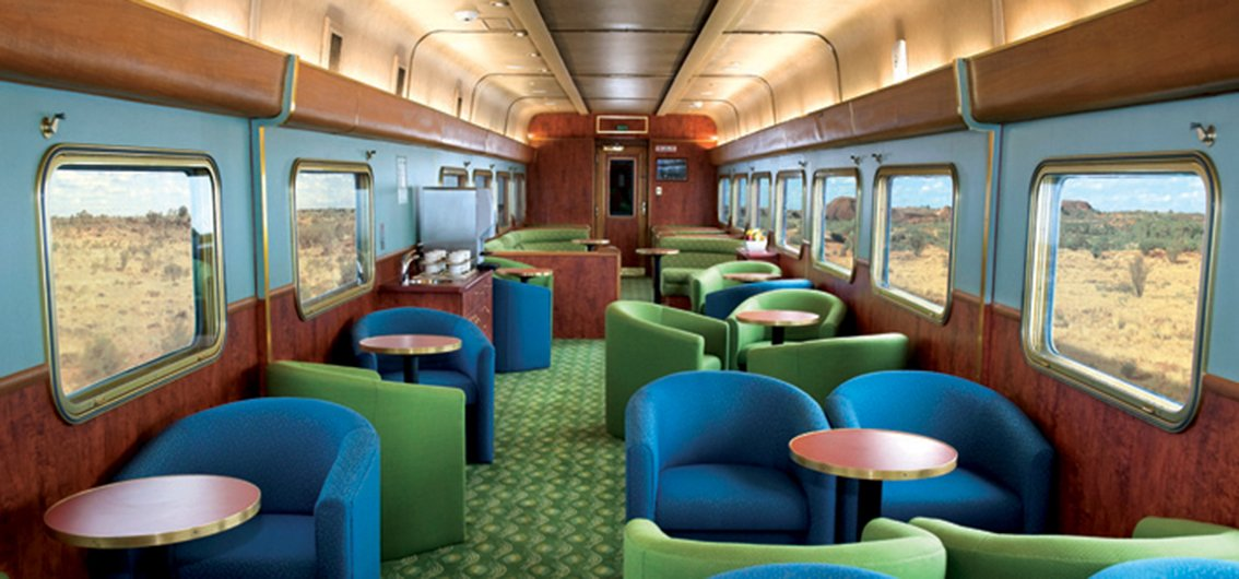 Lounge im Indian Pacific