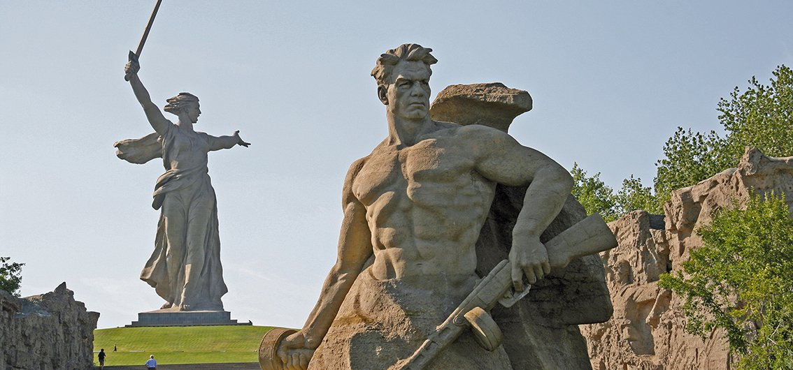 Monumentalstatue Mutter Heimat in Wolgograd