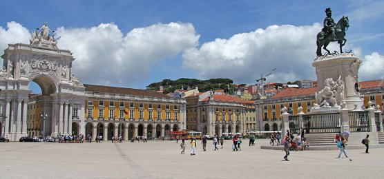 Trade-Platz in Lissabon